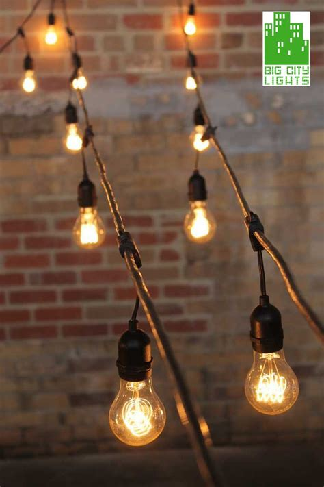 Small backyards can be great to entertain in, especially as the weather gets warmer and the days get longer. Outdoor String Lights Weatherproof with Vintage LED Edsion Bulbs - Big City Lights
