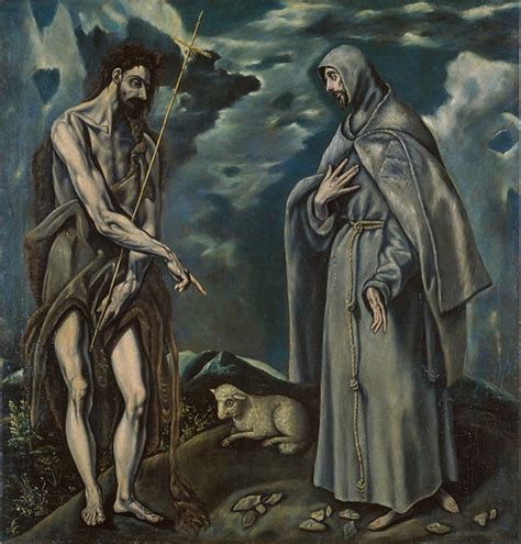 file workshop of el greco the baptist and francis of assisi
