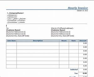 15 free hourly invoice templates blue layouts With hourly invoice template pdf