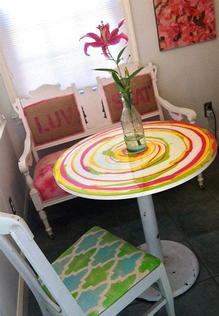 bench  chair   table  entry  painted