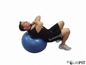 Exercise Ball Incline Ab Crunch - Exercise Database ...
