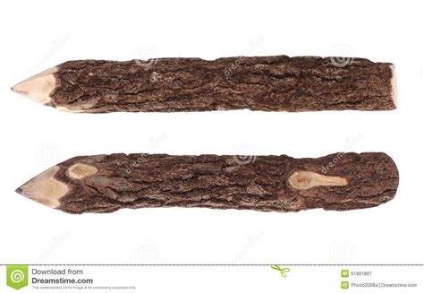 Pencil Wood Bark Stock Photo