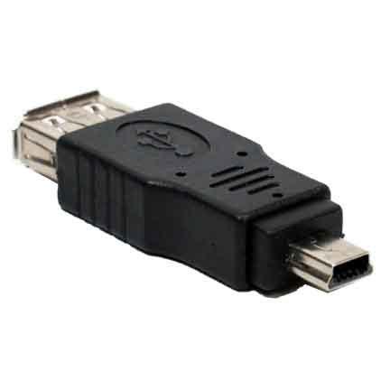 usb a to mini usb b 5 pin adapter