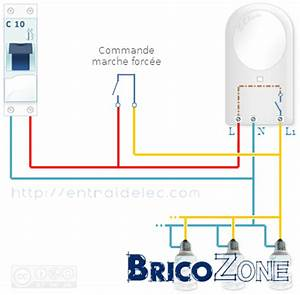 forcer l39allumage d39un spot a detecteur With comment installer un projecteur exterieur 13 schema electrique brancher un interrupteur simple