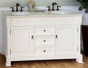 60 Inch Double Sink Bathroom Vanity in CreamWhite