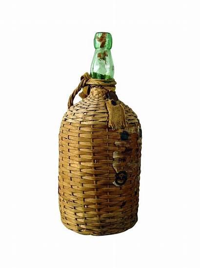Rum Bottle Bacardi Covered Wicker Bottles Chairish