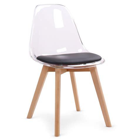 chaise noir et bois chaise design plexi et bois chaise design