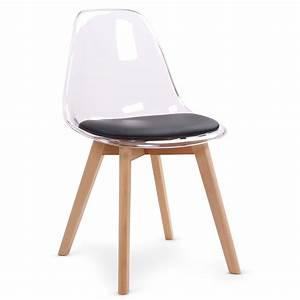 Chaise Noire Design : chaise design noire plexi et bois chaise design ~ Teatrodelosmanantiales.com Idées de Décoration