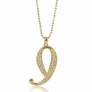 berricle gold tone rhinestone initial letter fashion With letter pendant jewellery