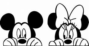 "Mickey Mouse & Minnie faces decal, 4"" X 8"" from ..."