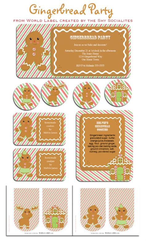 freebie friday  gingerbread party  printables