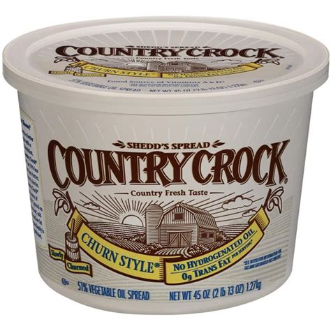 Shedd's Spread Country Crock Churn Style 51% Vegetable Oil