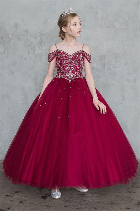 burgundy flower girl dresses girls dress