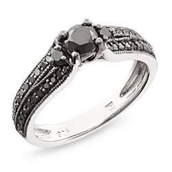 black wedding rings with diamonds black black rhodium plated engagement ring engagement rings review