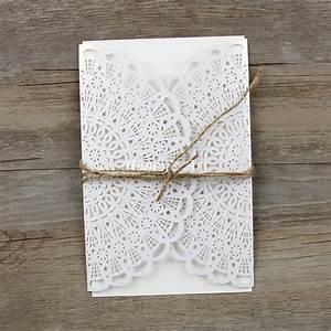 50pcs lot laser flower cut wedding invitations with With diy wedding invitations app