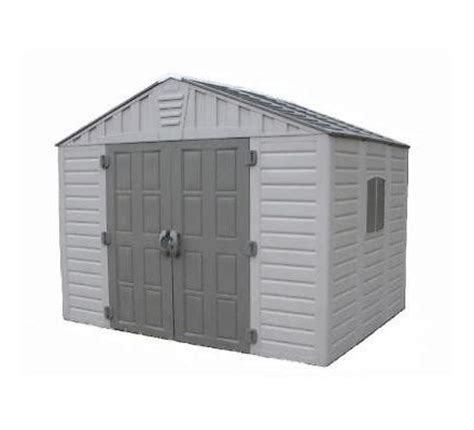 us leisure stronghold 10 ft x 8 ft resin shed 157479