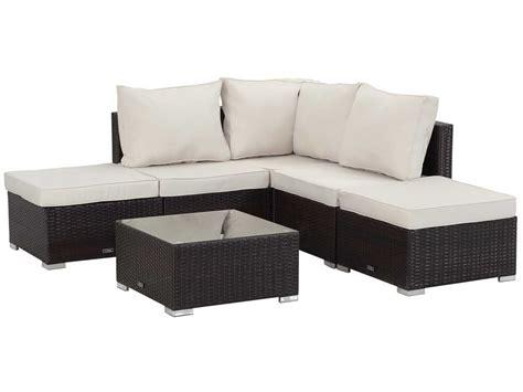 canapé de jardin aluminium salon de jardin modulable en résine tressée quot lima