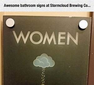 Clever bathroom signs barnorama for Cool bathroom signs