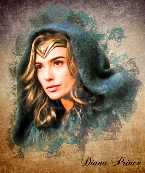Wonder Woman Fan Art Vintage Portrait By Jennaikikz On