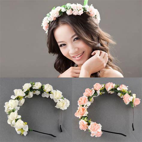 flower garland floral bridal headband hair band wedding