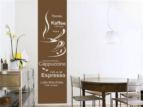 Wandtattoos Kuche Esszimmer by Wandtattoo Banner Kaffe Variationen Bei Homesticker De