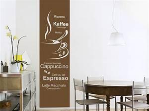 Wandtattoos Küche Esszimmer : wandtattoo banner kaffe variationen bei ~ Watch28wear.com Haus und Dekorationen