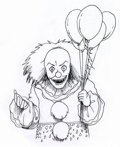 Coloring Pages Doll Creepy Clown Popular