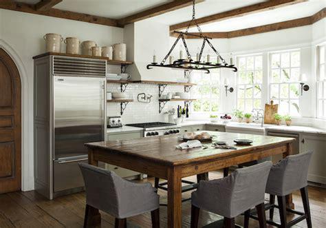 Farmhouse Kitchen Islands Island Dining Table Transitional Kitchen Westbrook Interiors