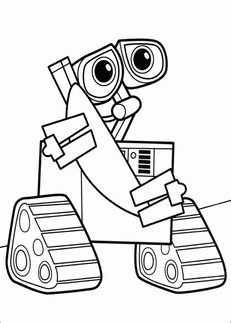 wall e coloring pages coloringpages1001