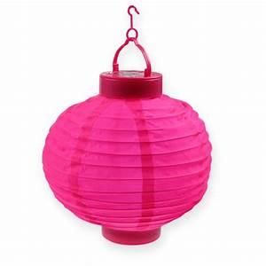 Lampions Mit Led : lampion led mit solar 20cm pink preiswert online kaufen ~ Watch28wear.com Haus und Dekorationen