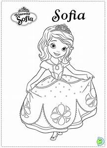 Coloring Sofia The First Coloring Page Pages Amb With