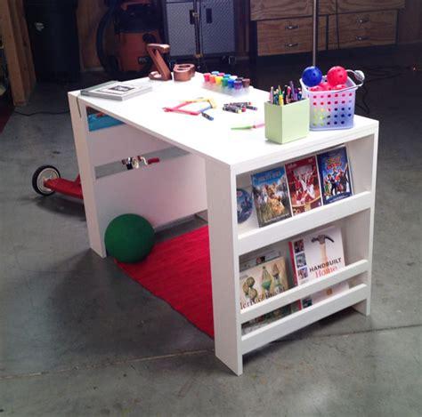 diy desk with storage ana white kids storage leg desk diy projects