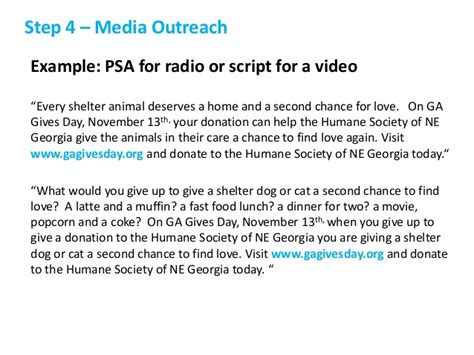 psa template how to raise more money on gives day 2014
