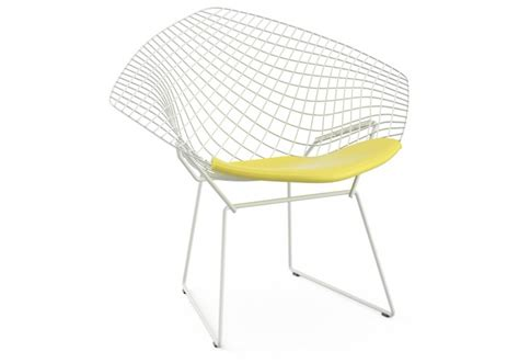 bertoia chaise bertoia chair with cushion knoll milia shop