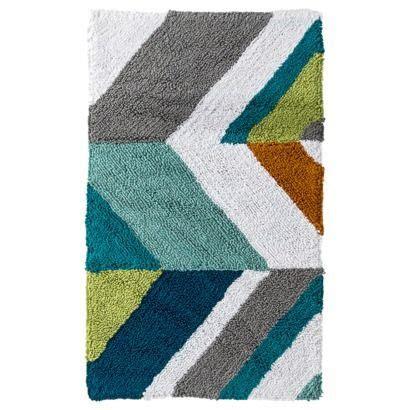 room essentials chevron bath rug multicolor