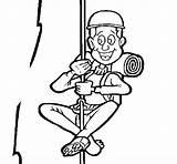 Scalatore Escalador Pintar Escaladeur Climber Escaladores Dibuixos Arrampicata Coloriage Alpinista Acolore Pintat Coloringcrew Dibuix Alpinismo Desportos Febrer Coloritou sketch template