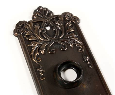 """Antique P. & F. Corbin """"lorraine"""" Door Knob Sets With Backplates, C. 1905 Ndks111 -- 5 Available Antique Metal Table Fan Farmhouse Archive Buffet And Hutch White Gold Dressing Mirror Clocks London England How Do You Clean Up Furniture Garden Gate Latch Bed Springs Art Upholstered Dining Chairs Uk"""