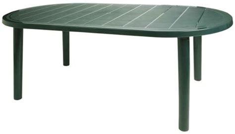 buy resol brava outdoor oval garden table green plastic