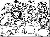 Coloring Disney Princess Pages Characters Cute Baby Princesses Easy Sheets Moana Hard Getdrawings Getcolorings Printable Drawing Character Unique Main Colorings sketch template