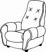 Coloring Poltrona Chair Disegno Couro Colorir Desenho Poltrone Misti Colorare Disegni Tudodesenhos Popular Immagine Imprimir Condividi sketch template