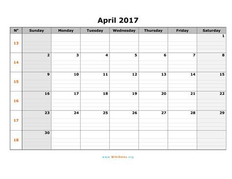 monthly calendar template 2017 april 2017 calendar printable with holidays weekly calendar template