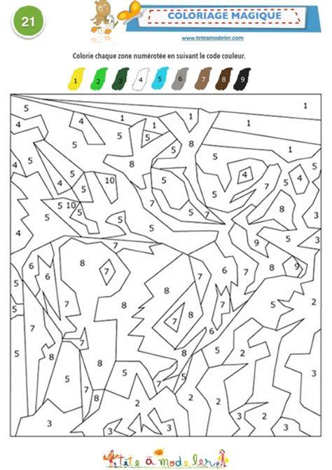coloriage magique  code de    coloriage tete  modeler