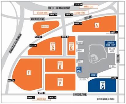 Stadium Mets Parking Citi Field Map Lot