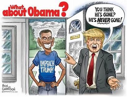 Obama Trump Government Garrison Cartoon President Shadow