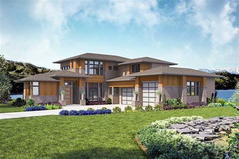 Modern 4 Bed House Plan with Indoor / Outdoor Living
