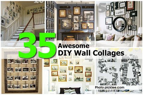 awesome diy wall collages
