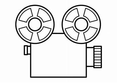 Coloring Film Projector Camera Pages Sheet Edupics