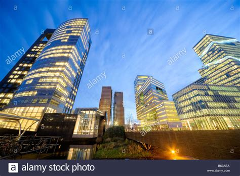 offices amsterdam zuidas abn amro bank hq   left middle  stock photo royalty
