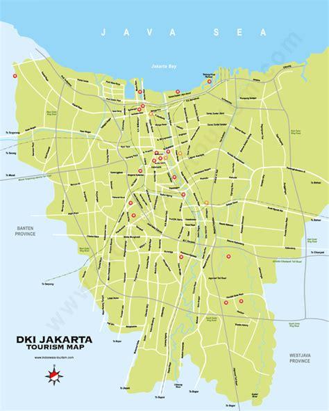 map  jakarta tourism