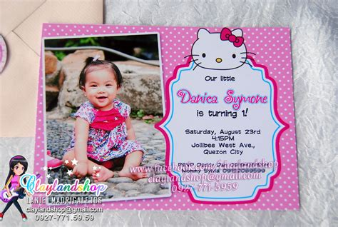 birthday invitation clayland souvenir shop
